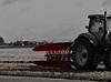 travailler la terre - work the land (vieux rêveur) Tags: desaturation red rouge noir blanc black white tracteur tractor campagne champs fields