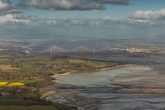 Forth Bridges from the air (Chris_Hoskins) Tags: forthroadbridge unescoworldheritagesite wwwexpressionsofscotlandcom scottishlandscapephotography landscape centralscotland scottishlandscape firthofforth scotland queensferrycrossing forthrailbridge
