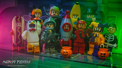 A Nova Team Halloween (Agaethon29) Tags: bricklyhq lego afol legography brickography legophotography minifig minifigs minifigure minifigures toy toyphotography macro cinematic 2017 legospace neoclassicspace spaceman classicspace space scifi sciencefiction ncs novateam customminifigure moc halloween