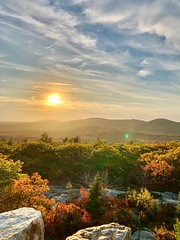Autumn Nature View from Above (Scorpiol13) Tags: peace serenity tranquility freshair colorful season fall autumn nature cliff rocks lightandshadow light horizon skyline rural maine outdoors scenery scenicview forest trees foliage peak mountains sunset