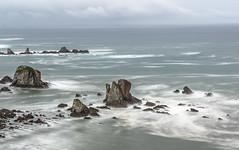 La mar. (Amparo Hervella) Tags: asturias españa spain nube roca naturaleza amanecer largaexposición d7000 nikon nikond7000 color ola comunidadespañola