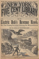 Lost science fiction robot dime novel unearthered (steammanofthewest) Tags: dimenovel 1893 sciencefiction airship robot steampunk electricbob revenuehawk lostmagazine