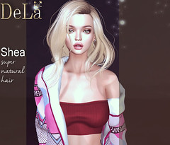 "=DeLa*= new hair ""Shea"" (=DeLa*=) Tags: dela hair fitted rigged mesh materials secondlifefashion secondlife sl slhair style new bento"