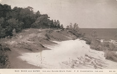 Sun, Sand, and Water, Indiana Dunes, circa 1930s - Chesterton, Indiana (Shook Photos) Tags: postcard postacrds sand dune dunes indianadunes lakemichigan beach shore shoreline chestertonindiana chesterton indiana portercounty