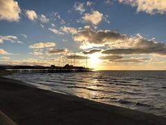 South Pier (BiggestWoo) Tags: lancashire cloud clouds sea sky sun sunset irish irishsea pier south southpier blackpool