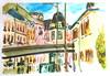 Rue de Molsheim  Strasbourg le 28-10-2017 (messerchristophe) Tags: strasbourg rue de molsheim aquarelle croquis urbain urban sketcher