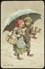 Julemotiv tegnet av Jenny Nystrøm (National Library of Norway) Tags: nasjonalbiblioteket nationallibraryofnorway postkort postcards julekort christmascards jul christmas jennynystrøm kartongkort overrekkelseskort barn children høytider lysestaker vinter