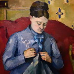 CEZANNE,1877 - Madame Cézanne cousant (Stockholm) - Detail 35 thumbnail