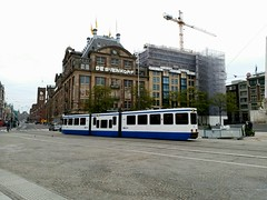 Tram of Amsterdam (stardex) Tags: tram transport building architecture road street city netherlands holland amsterdam vehicle