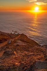 Lighthouse at setting sun (R Lund photography) Tags: sunset sun lighthouse orange marin marincounty california nature 6d canon6d tamron2875mm