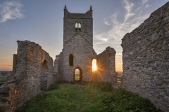 Burrow Mump Sunset (JChipchase) Tags: church ancient ruins hill somerset uk nikon d750 sunset burrowbridge burrowmump medieval