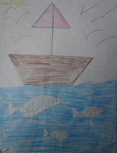 """dessin """"l'oiseau et l'enfant"""" (13)"""