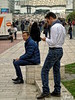 Pause (Jean S..) Tags: candid streetphotography men male jeans outdoors people ladefense paris