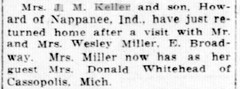 1917 - Kellers visit Millers - South Bend News-Times - 30 Jul - 1917