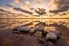 Salty sunset. (jorgemaktub) Tags: salinas atardecer sunset sun reflection reflejos reflections clouds nubes torrevieja otoño sal saltlake calm calma naturaleza nature
