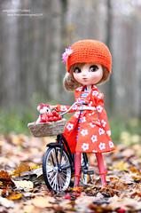 Cassie (enigma02211) Tags: pullip cassie dollphotography fashiondoll grooveinc autumn fashionista fashion fall nature