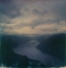 (mari-ann curtis) Tags: sx70 impossibleproject polaroid colour travel adventure hiking landscapes explorenorway wanderlust light shadows mountains fjords water sky clouds view preikestolen morning visitnorway marianncurtis polaroidoriginals roidweek nostalgia memories high distance horizon viewpoint reflection