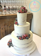 Semi Naked with Fruit Wedding Cake