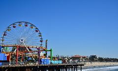 Pacific Wheel_Santa Monica Pier (franciscogualtieri) Tags: usa losangeles santamonica pacificwheel santamonicapier beach sky ocean nikond7000
