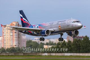 Airbus A320 VP-BWD PFC-CSKA of Aeroflot airlines at Pulkovo airport
