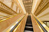 Going up (Josh Thompson) Tags: 1855mmf3556g 231slasalle continentalillinoisbankbuilding wintrustbankbuilding chicago d7000 escalator golden openhousechicago sigma1020mmf456exdc lightroom5
