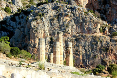 Temple of Apollo (ika_pol) Tags: unesco unescogreece worldheritage greece delphi antiquity ancient ancientgreece ancientruins geotagged parnassusmountains mountains