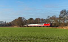 DB 120 111 - Borstel (b. Linsburg) (Pau Sommerfeld Acebrón) Tags: ersatzzug ic intercity ic2039 norddeichmole leipzighbf leipzig linsburg borstel nienburg nienburgweser bimz kpreserve 2016 baureihe120 120 120111 elektrolok niedersachsen nds de deutschland fernverkehr dbfernverkehr reisezug dbag deutschebahn db dbfv züge zug eisenbahn railway train personenverkehr personenzug norddeutschland kbs380 vzg1740