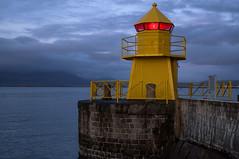 Portside (OzzRod) Tags: pentax k1 hdpentaxdfa2470mmf28 reykjavik iceland harbour wall portside warning light marker maritime