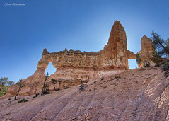 """This was taken in mid-day and was backlit, which you can kind of see behind the """"tower"""" (sbuckinghamnj) Tags: towerbridge brycecanyon brycecanyonnationalpark utah landscape"""