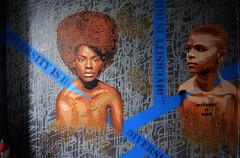 Diversity is hope (HBA_JIJO) Tags: streetart urban graffiti pochoir stencil paris art france artist hbajijo wall mur painting aerosol peinture murale spray pochoiriste woman bombing urbain girl black rehab2 femme