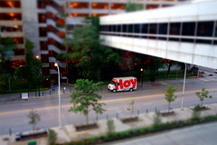 today is delivered (KevinIrvineChi) Tags: sony dscrx100 hoy rush medical center today truck chicago chicagoist consumerist curbedchicago illinois district van parking garage color red letters trees street crossing walkway sidewalk landscaping
