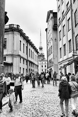 Stockholm street 3 (Rob A Dickinson) Tags: nikon d7100 sigma2470mmf28 stockholm sweden blackandwhite monochrome street