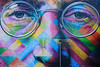 John Lennon #1 (The Green Album) Tags: john lennon beatles bristol upfest 2017 tobacco factory wall multicoloured face eyes glasses nose portrait art southville lamp urban