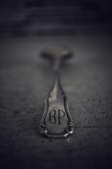 """Macro monday """"found in the kitchen"""" (bertrandpoux) Tags: hmm macro macromonday kitchen spoon vintage dark"""