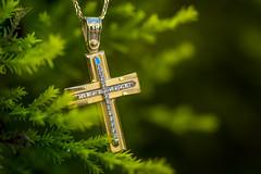 christening cross 3 (pg_art) Tags: macro macrodreams macroworld amazing dark wow depthoffield texture outdoor closeup pgart d750 sigma green cross christening bokeh