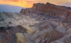Sunset from Zabriskie Point, Death Valley (jezhughesphotography) Tags: california goldenhour summer warm northamerica shade nps nationalpark photography deathvalleynationalpark deathvalley usa america explore zabriskipoint