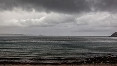 Gradiations of Grey - View from Kingsand (L I C H T B I L D E R) Tags: grau grey sky sea boat boot schiff water beach strand wetter england kingsand cornwall plymouth autumn fall herbst