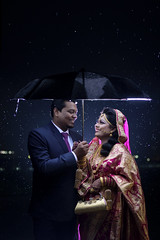 Arifin & Bushra (RoUcY1) Tags: rain umbrella night couple wedding dhaka asian model bride groom bangladeshi biye bowvaat thaichai restaurant bijoy shoroni muztoba rabbani romantic