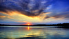 It Sets In the West (Bob's Digital Eye) Tags: 2017 bobsdigitaleye canon canonefs1855mmf3556isll clouds flicker flickr h2o lake lakesunset lakescape skies sky sunset sunsetsoverwater t3i water laquintaessenza