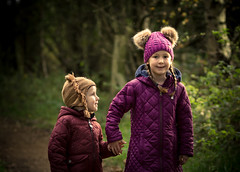 Brotherly love (trevorhayes502) Tags: siblings brother sister autumn lancashire greatharwood trees woodland love children grandchildren