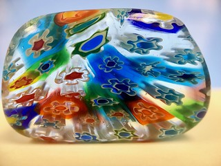 Millefiori glass bead