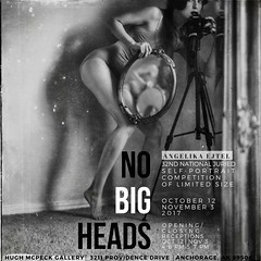 exhibition │No Big Heads, 32nd National Juried Self-portrait Competition, OCT 12-NOV 3rd, 2017, Hugh McPeck Gallery, Anchorage, Alaska, U.S.A. (RapidHeartMovement) Tags: exhibition rapidheartmovement selfportrait