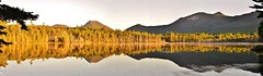 Grassy Pond Pano (RWGrennan) Tags: doubletop mountain grassy pond baxter state park water sun light trees wild nature maine me new england hiking appalachian trail at nikon d610 travel ryan grennan rwgrennan rgrennan reflection steam katahdin stream lake landscape forest river panorama mountains pano panoramic