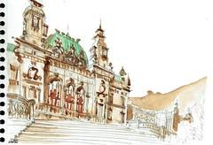 Monte Carlo, l'Opéra (Croctoo) Tags: croctoo croctoofr croquis aquarelle watercolor montecarlo monaco opera