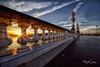 Sunrise perspective (marko.erman) Tags: paris city france bridge alexander iii seine river sunrise sun morning sky dômedesinvalides perspective urban archiecture beautiful outside popular pov uwa sonya7rii voigtländerheliarhyperwide lampes lines style artnouveaux beauxarts