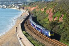 43182 (Lewis_Hurley) Tags: uk seaside england railway train locomotive passenger diesel seawall sea beach dawlish fgw firstgreatwestern firstgroup first highspeedtrain hst class43 43182 43