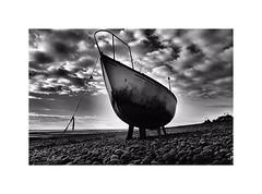 One day the sea will come & take me far far away ! (CJS*64) Tags: derelict dereliction boat sailing sailingboat lytham seaside sea atsea shore blackwhite bw whiteblack whiteandblack mono monochrome cjs64 craigsunter cjs j1 j5 nikon nikkorlens nikkor lancashire