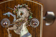 "Larrivee Unicorn-Macro Mondays - ""musical instrument""7DWF- Wednesday's Macro (Karon Elliott Edleson) Tags: wednesday'smacro 7dwf guitarlove guitar larrivee accoustic accousticguitar instrument inlay abalone motherofpearl strings macromondays musicalinstrument tuning post string macro"