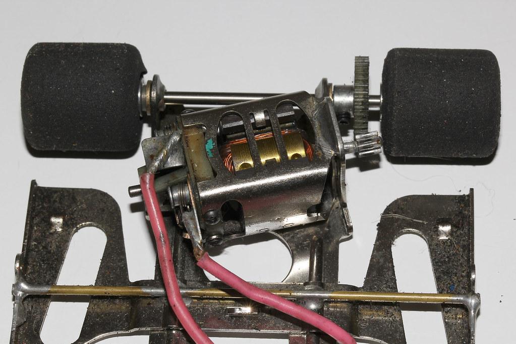 Slot car motor groups