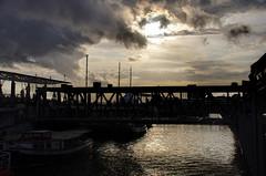 Himmel über Landungsbrücken (greenoid) Tags: landungsbrücken hamburg hafen himmel sky harbour